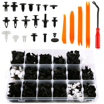 435PCS Car Body Trim Clips Retainer Bumper Rivets Screws Panel Push Fastener Set