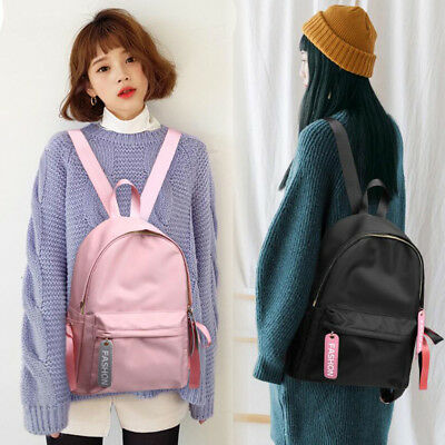 Fashion Girls Canvas Backpack Travel School Bag Crossbody Rucksack Satchel Tote