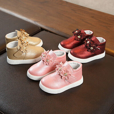 New Infant Baby Girl Boots Princess Shoes for Children Kids Sneakers Size 4689