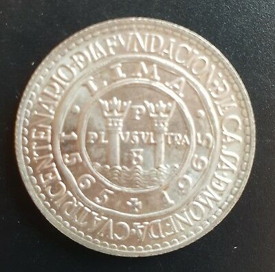 1965 Peru 20 Soles Silver (400th Anniversary of Lima Mint) UNCIRCULATED..