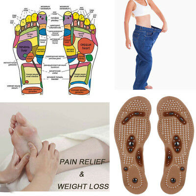 Magnetic Massage Shoe Insoles Gel Pad Therapy Acupressure Foot Care Cushion UK
