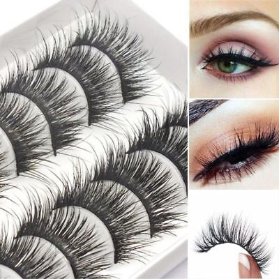 10 Pair Set 3D Long Lasting Eye Lashes Natural & Lightweight Mink Eyelashes