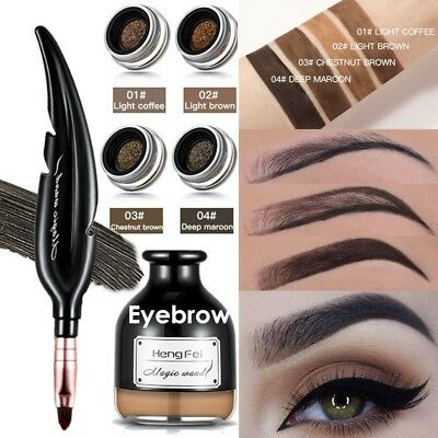 Air Cushion Eyebrow Cream Gel Long Lasting Waterproof Pencil with Brush Makeup