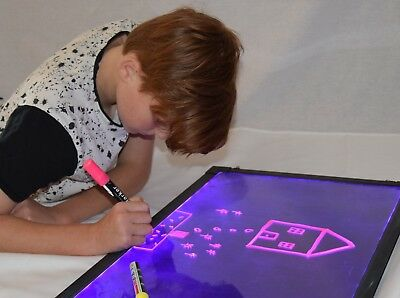 60 x 40cm Sensory LED light up drawing//writing board toy for special need ADHD