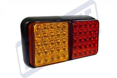 Single Led Multi Functional Rectangular Tail Stop Indicator Lamp Maypole Mp9637B