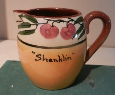 Watcombe Jug with Cherries and Leaves decoration Shanklin