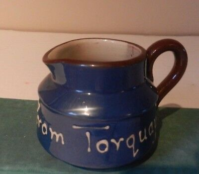 LONGPARK BLUE JUG  5.5 CM TALL 'From Torquay'