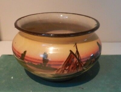 Faience boat scene bowl from Watcombe