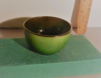 Watcombe Green Lustre small bowl Potential as part of  a display in an Hotel etc