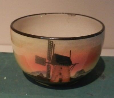 Windmill theme bowl from Watcombe pottery