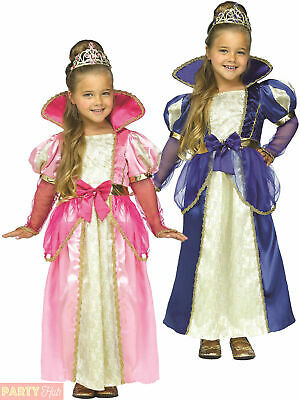 Girls Toddler Royal Queen Costume Childs Fairytale Princess Costume Kids Outfit