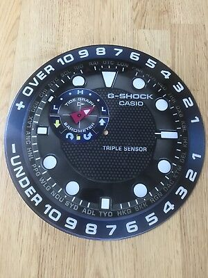 """Casio G-Shock Wall Mounted Clock """"never Give Up"""" Limited Edition Rare Piece"""