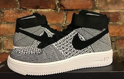 reputable site e5d81 ced2c Nike Air Force 1 Ultra Flyknit Mid Uk6 Us7 Eur40 Black White 817420 005
