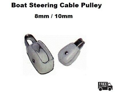 Cable Pulley Boat Steering - 10mm / 8mm - Heavy duty - Nylon / Stainless Steel