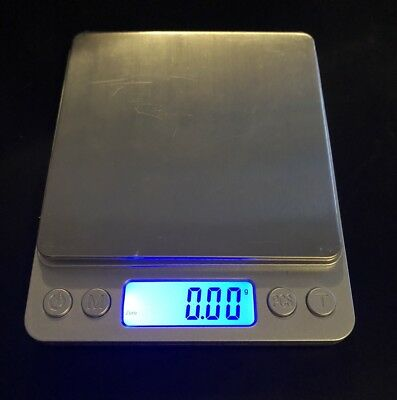 Digital Scale LCD Electronic Balance Stainless Steel Platform Scales 0.01-500g