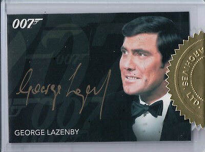 James Bond Archives 2015, George Lazenby 'James Bond' Archive Box Autograph