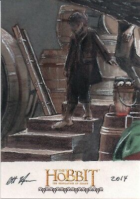 The Hobbit The Desolution Of Smaug,Scott Houseman Sketch Card