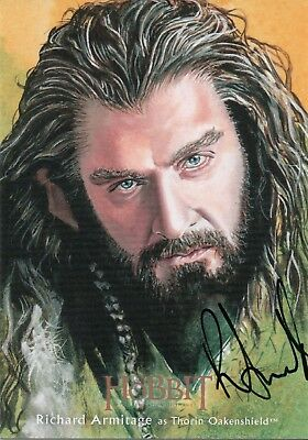 The Hobbit The Desolution Of Smaug, Richard Armitage Illustration Autograph Card