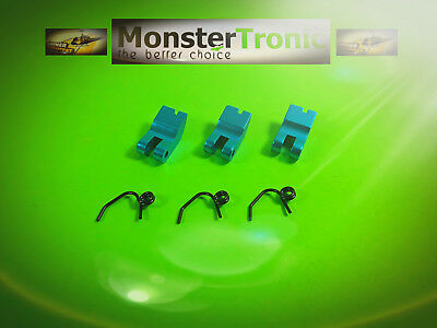 1:8 Alu 3 Backen Tuningkupplung mit Federn Blau, Nr. D10014 v. Monster Tronic