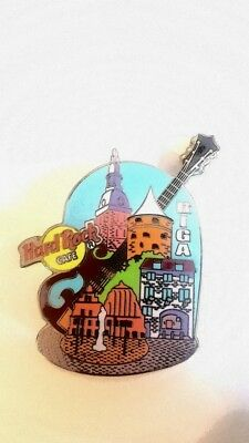 Hard Rock Cafe RIGA LATVIA City Guitar pin  *CLOSED*