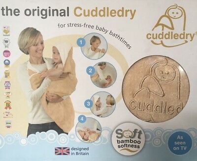BNIB The Original Cuddledry Oatmeal Newborn Baby Bath Towel Shower Perfect Gift