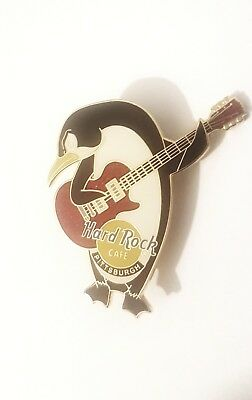 Hard Rock Cafe PITTSBURGH Penguin playing Guitar 2002 pin   *RARE*