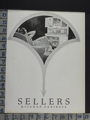 1925 Sellers Cabinet Kitchen Housewife Lounge Home Decor Vintage Art Ad  Cn48