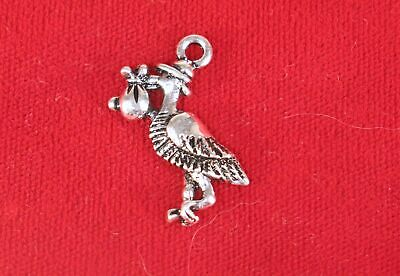 4 New Baby Stork Charms Antique Silver Tone Dangle SC1946
