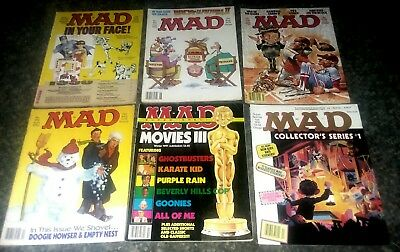 LOT of 6 MAD MAGAZINES #'d Collector Series 1 Super Special Movies III 1990,1991