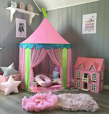 Princess Castle Girl Play Tent Childrens kids pink Play House Wigwam Outdoor Toy