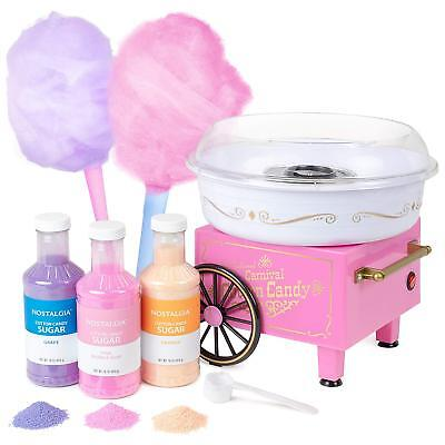 Cotton Candy Maker Machine Vintage Retro Sugar Free Party Carnival Fluffy Pink