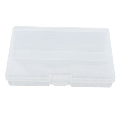 48Pcs Plastic Battery Storage Organizer 2 Compartment for AA Batteries Clear