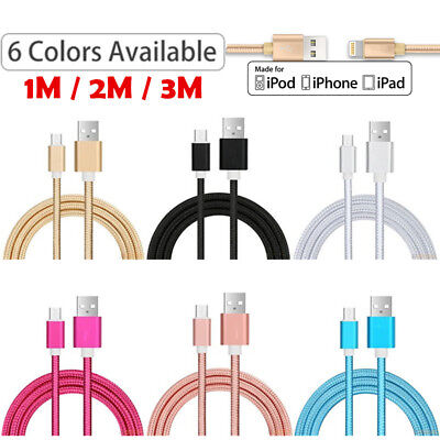 Extra Long USB Data Sync Charger Cable for Apple iPhone 5 SE 6 7 8 Plus X XS Max