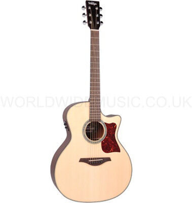 Vintage VGA900N Electro Acoustic Guitar - Natural - with Fishman Sonicore Pickup