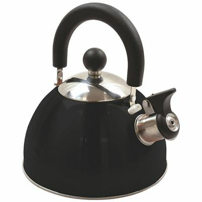 Highlander 2L Deluxe Lightweight Stainless Steel Whistling Camping Kettle