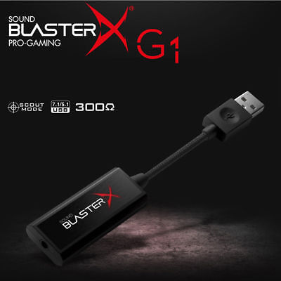 New Creative Sound Blaster X G1 7.1 Portable Pro Gaming USB Sound Card FPS