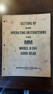 H-934 Corn Head_ Minneapolis Moline_ Set Up And Operating Instructions_ S-397
