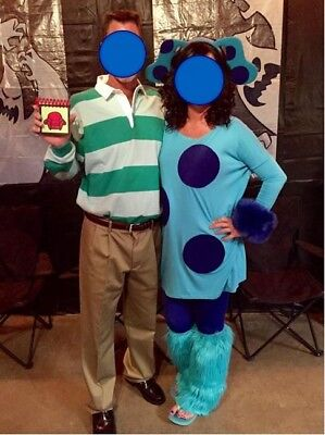 Blues Clue's Steve & Blue Couples Halloween Costumes Unique & One of a kind