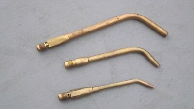--- (3) Air/Acetylene Soft Flame Tips; Small, Med, Large, Screw in torch handle