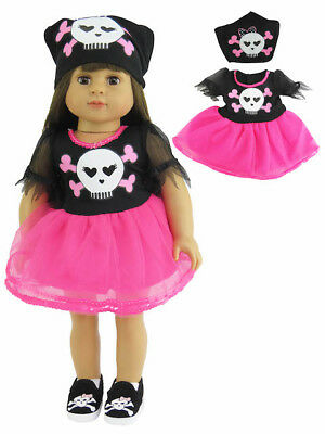 Punk Pirate Halloween Outfit Costume 4PC 18 in Doll Clothes Fits American Girl
