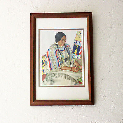 Not Real Bear Woman Winold Reiss Native American Art 1940s Vintage