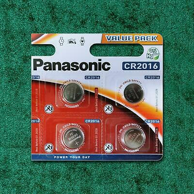 4 x Panasonic CR2016 3V Lithium Coin Cell Battery 2016 BR 2016 Key Fobs Alarms