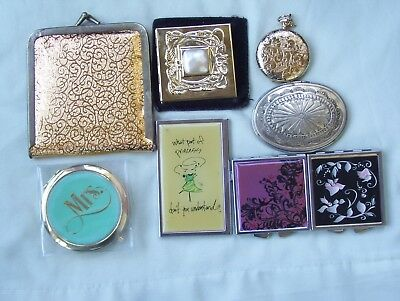 Vintage Estate Lot Mirror Compacts ~ Mixed Ages