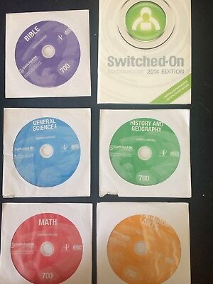 Switched on Schoolhouse 7th Grade 2014 Install disk and 5 Subjects SOS 7