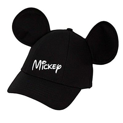 Disney Youth Hat Kids Cap with Mickey Mouse Ears Mickey Black FAST SHIP