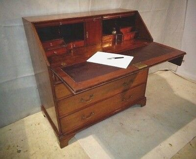 ANTIQUE GEORGE III MAHOGANY BUREAU GEORGIAN WRITING DESK c1780-1800 HOME DESK
