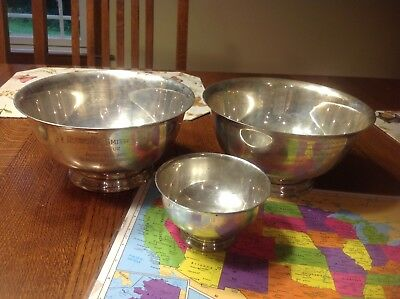 Antique Sterling Silver bowls Scrap Or Keep Great Pieces 1808 grams Gorham