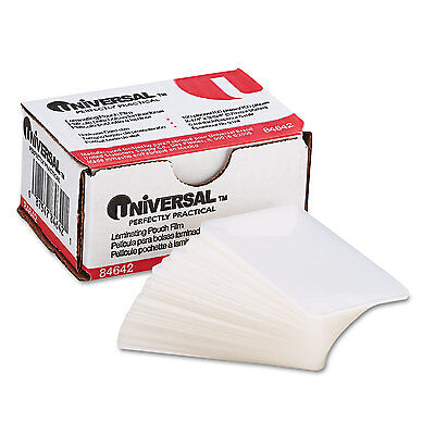 UNIVERSAL Clear Laminating Pouches 5 mil 2 1/4 X 3 3/4 Business Card Size 100