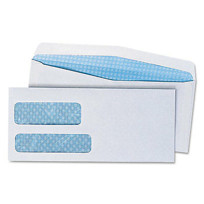 UNIVERSAL Double Window Check Envelope #9 3 7/8 x 8 7/8 White 500/Box 36301
