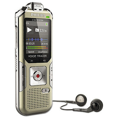 Philips Voice Tracer 6500 Digital Recorder 4 GB Memory Gold DVT6500